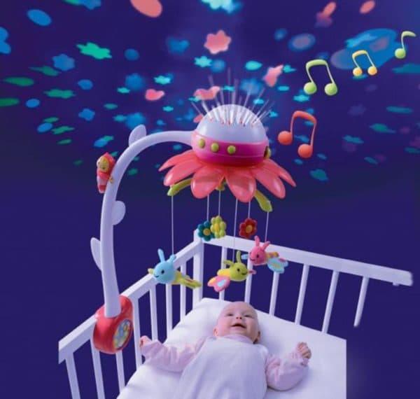 Многофункциональны мобили на кроватку новорожденного