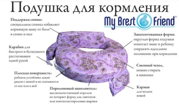 Подушка Май Бест Френд для кормления ребенка