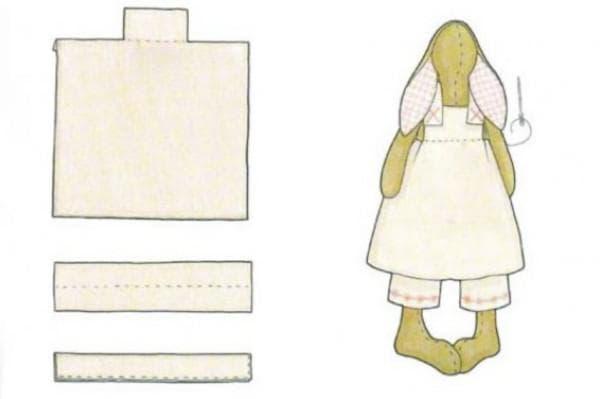 Как сшить одежду для зайца Тильда