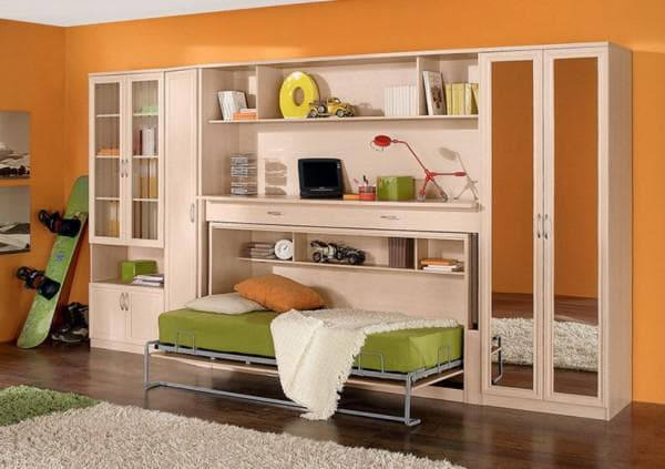 Кровать трансформер шкаф стол