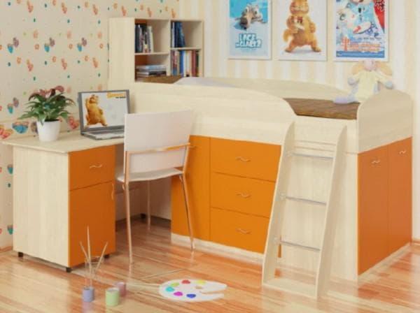 Трансформируемая кровать в детскую комнату