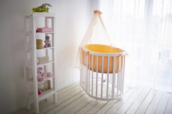 Кроватка приставная трансформер для новорожденного