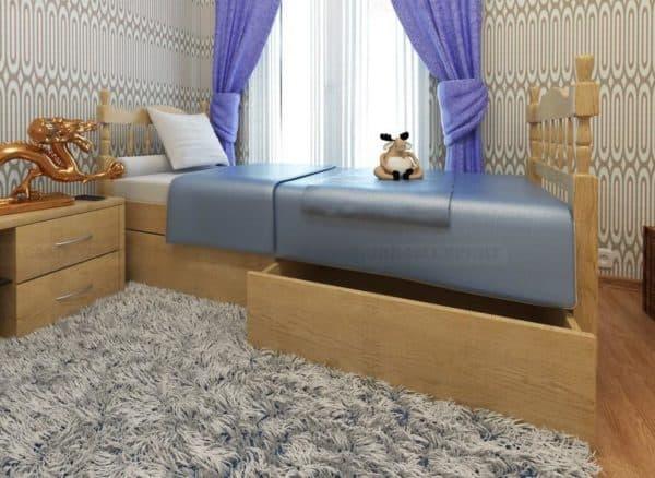 Кроватка для ребенка с местами для хранения