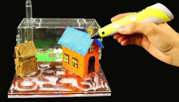 Дом для хомяка с помощью 3D ручки