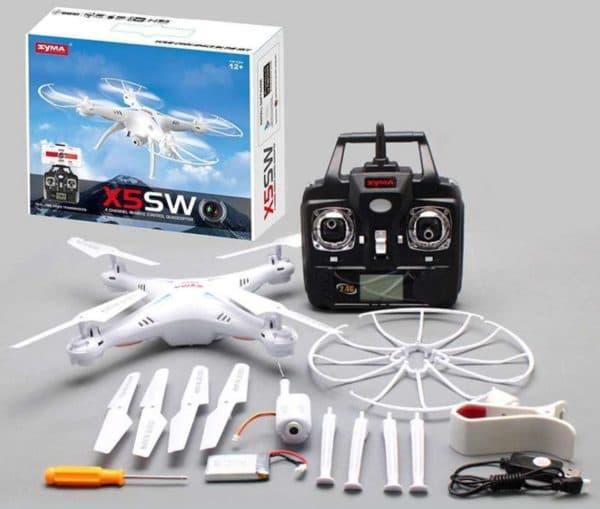 Квадрокоптер для подростка Syma X5SW 2.4Ghz с видеокамерой и Wi-Fi