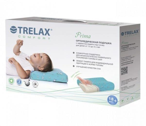 Подушка для ребенка 1 год с эффектом памяти Trelax